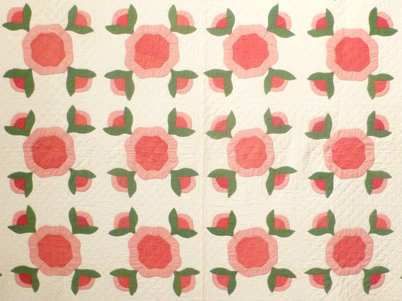 "Antique Quilt ""Rose of Sharon"" 3"