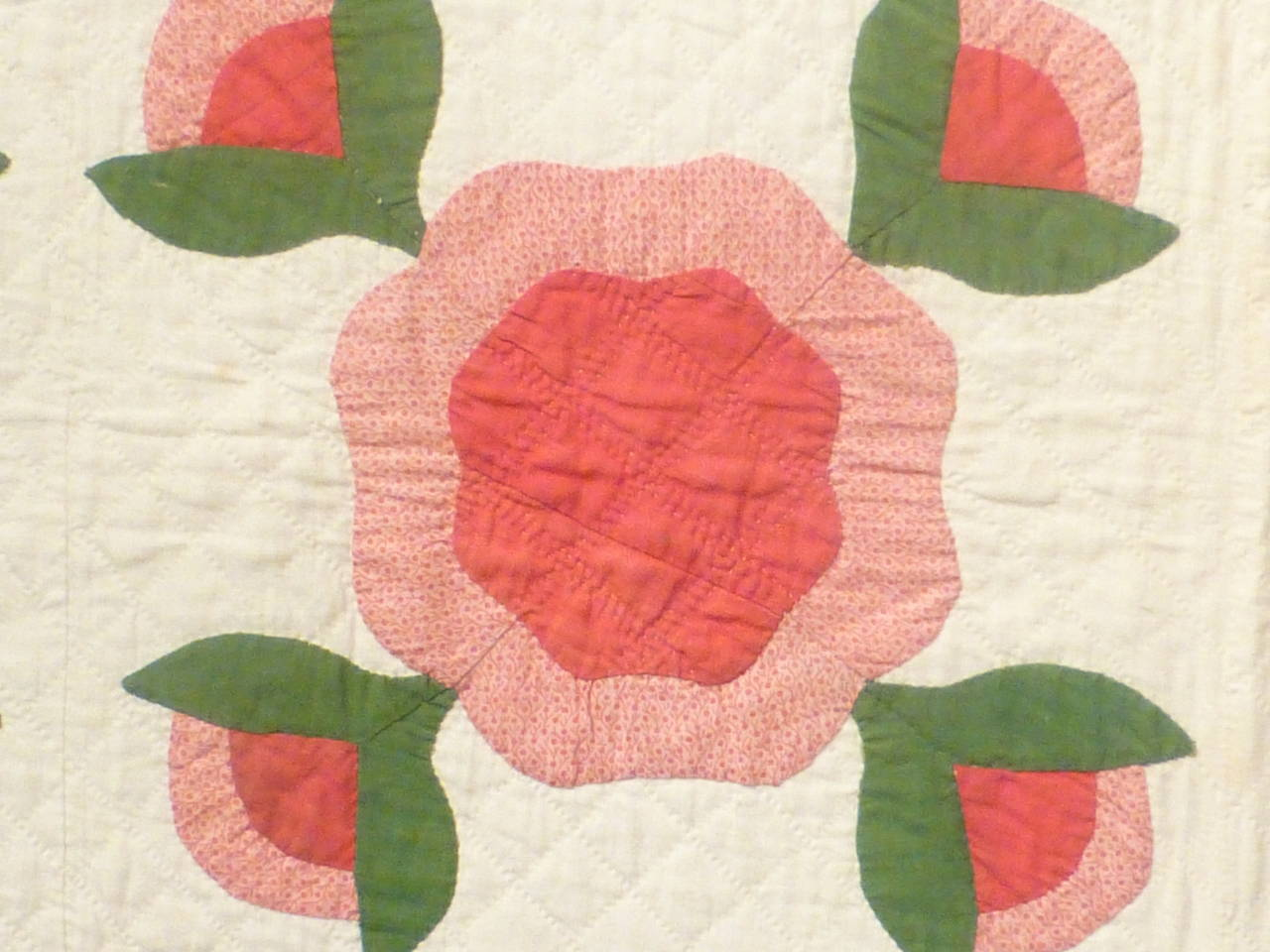 "Antique Quilt ""Rose of Sharon"" 6"