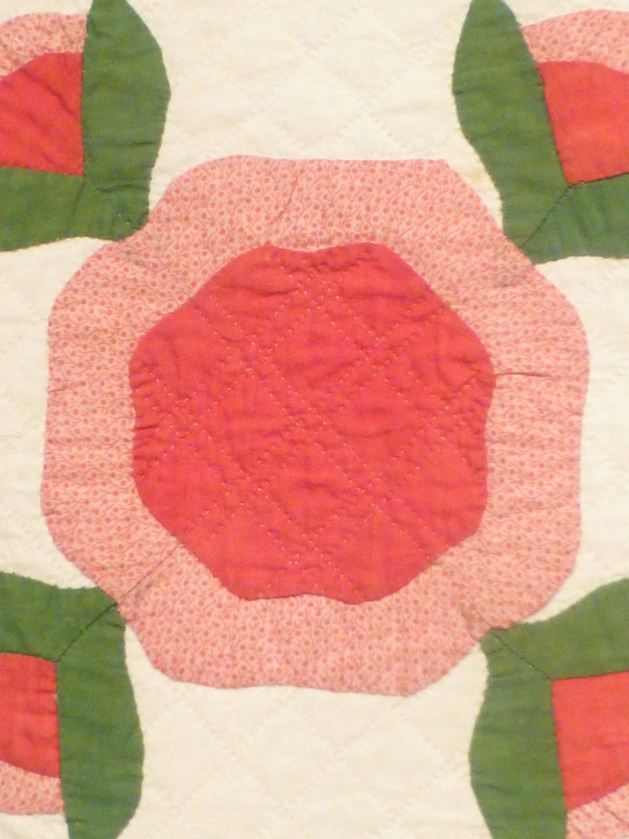"Antique Quilt ""Rose of Sharon"" 4"