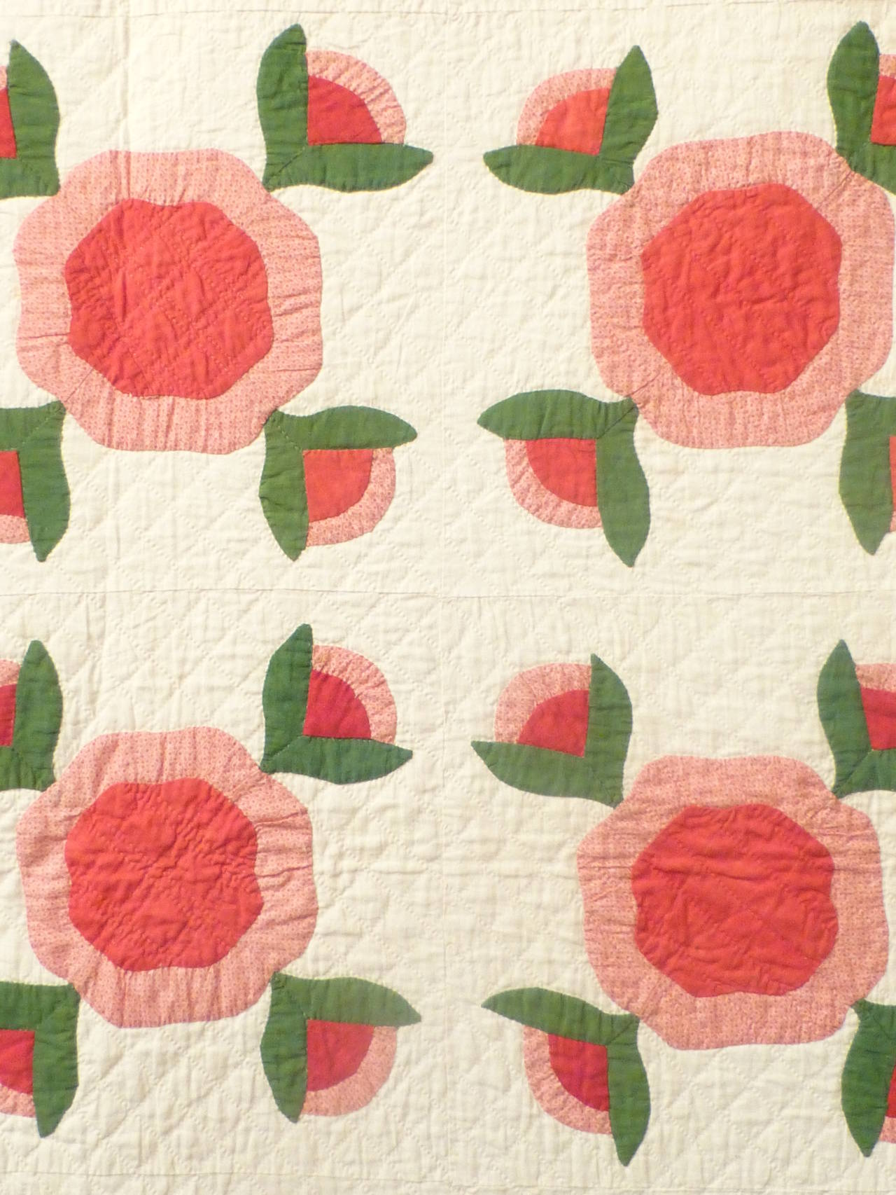 "Antique Quilt ""Rose of Sharon"" 2"