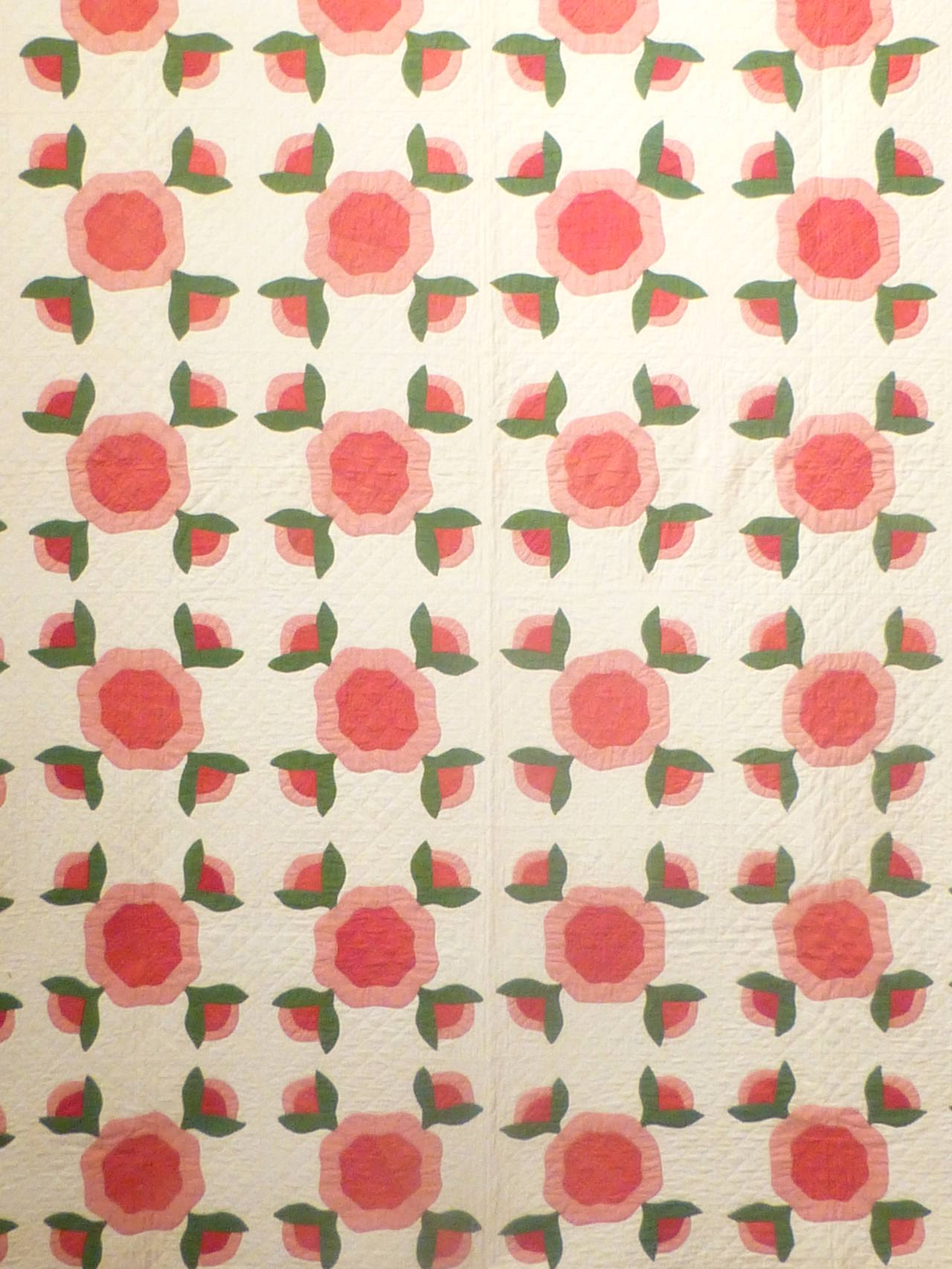 "Antique Quilt ""Rose of Sharon"" 8"
