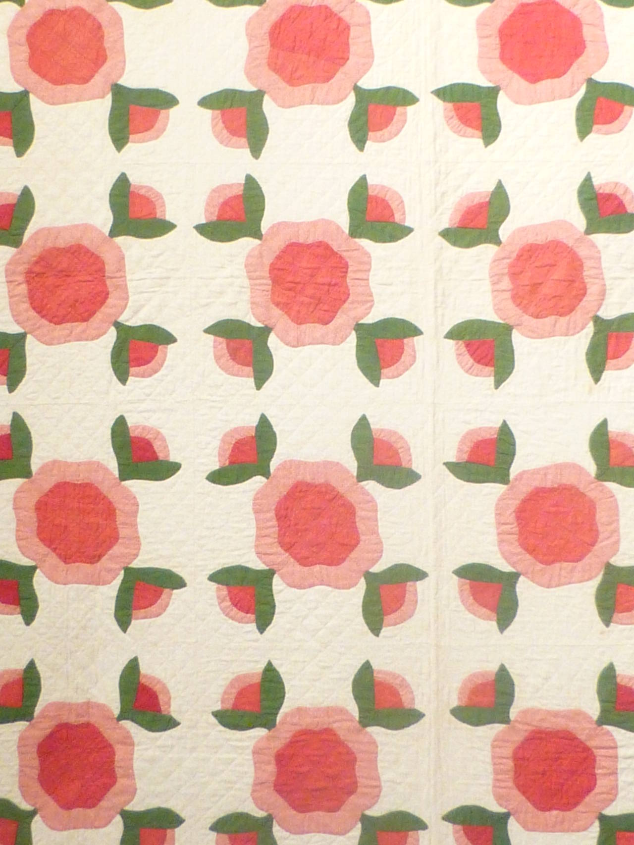 "Antique Quilt ""Rose of Sharon"" 5"