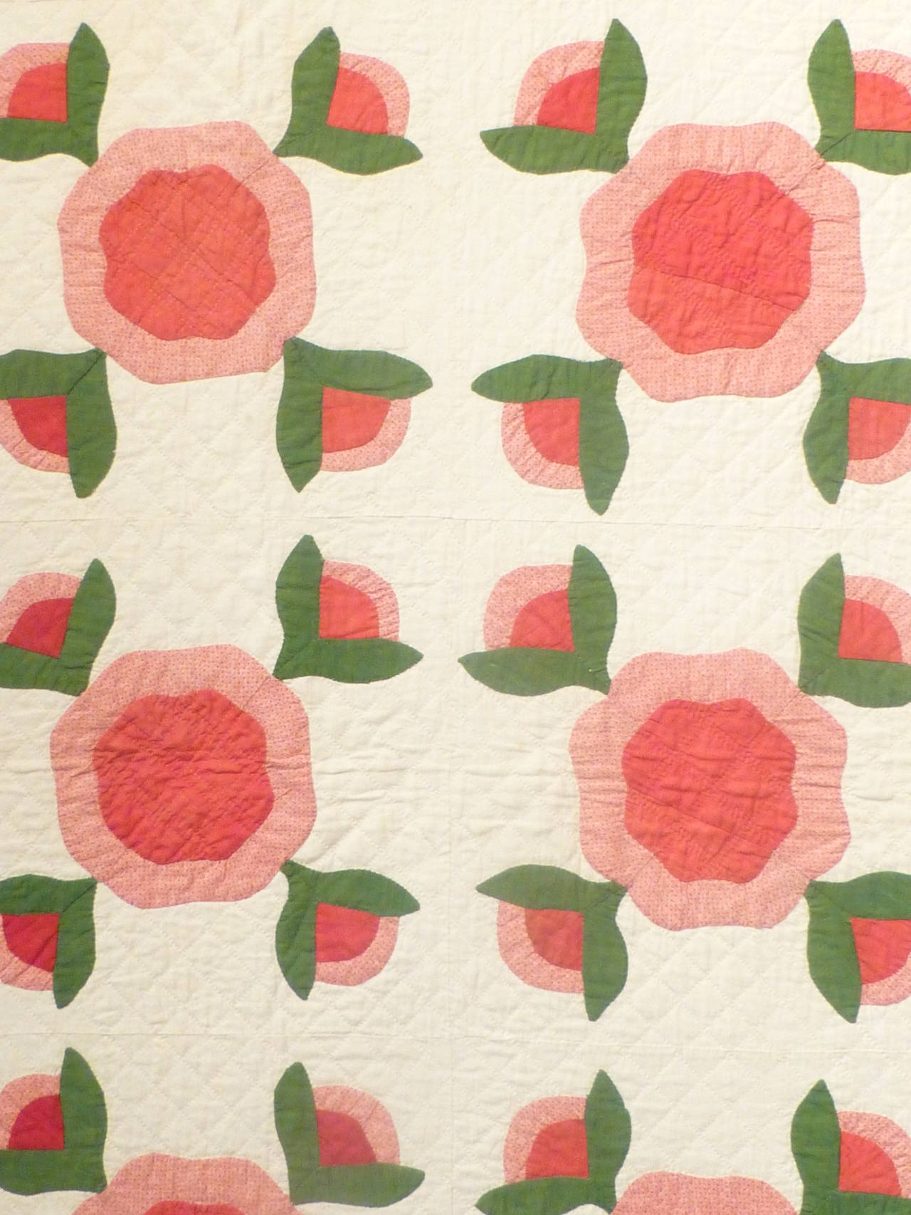 "Antique Quilt ""Rose of Sharon"" 7"