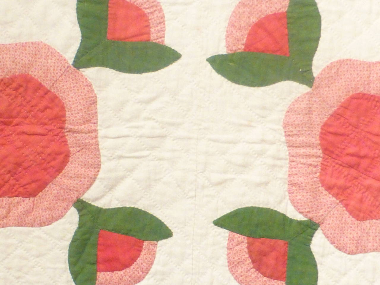 "Antique Quilt ""Rose of Sharon"" 9"