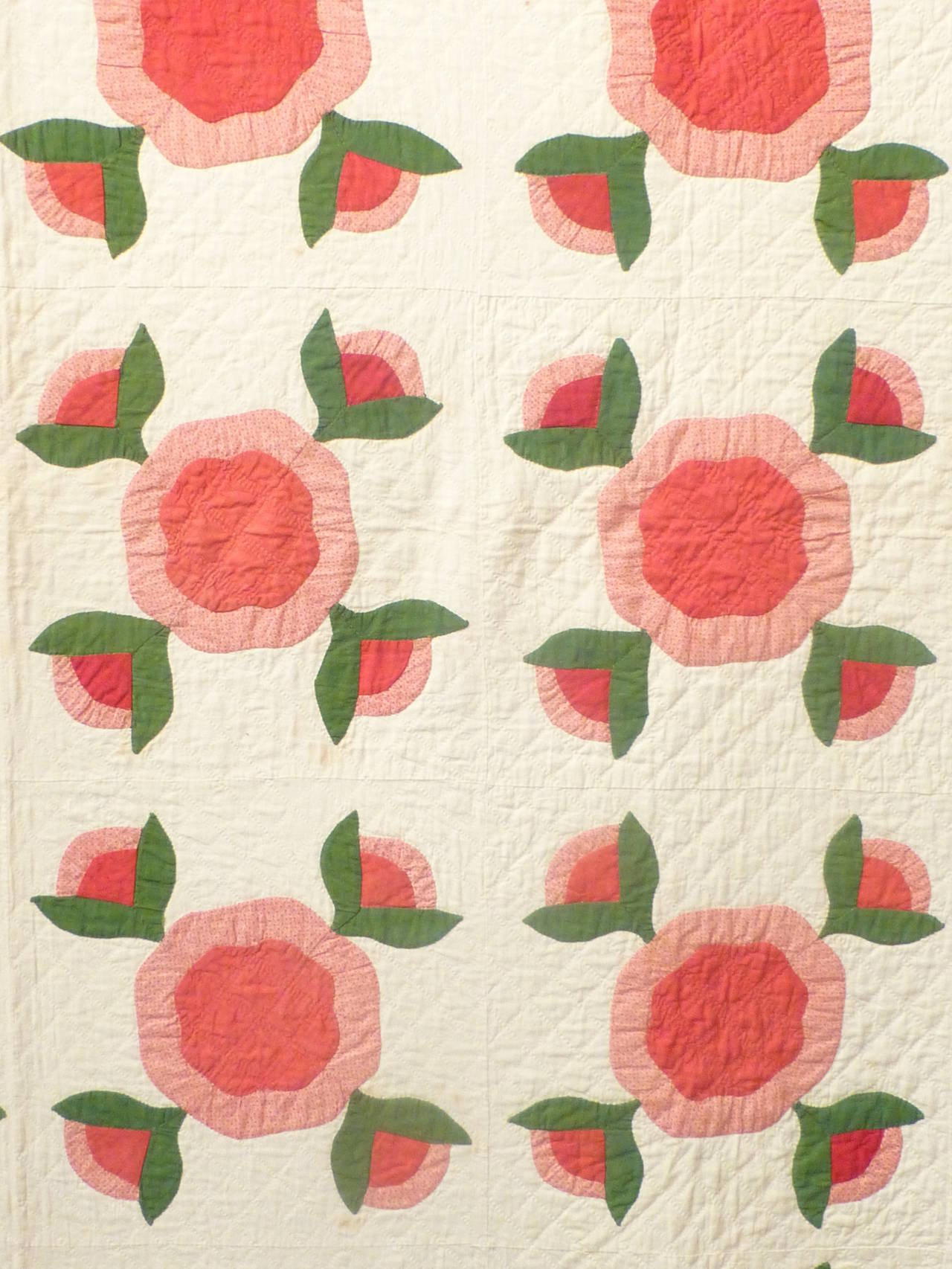 "Antique Quilt ""Rose of Sharon"" 10"