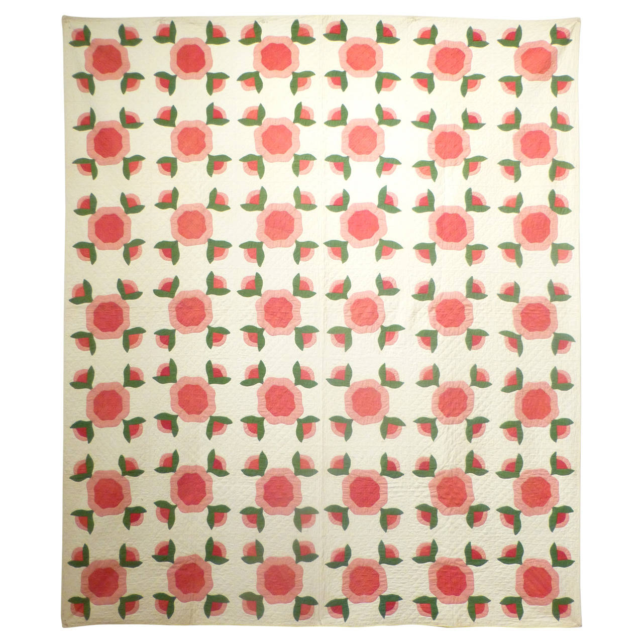 "Antique Quilt ""Rose of Sharon"" 1"