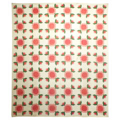 "Antique Quilt ""Rose of Sharon"""