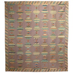 """Log Cabin-Courthouse Steps"" Antique Quilt"