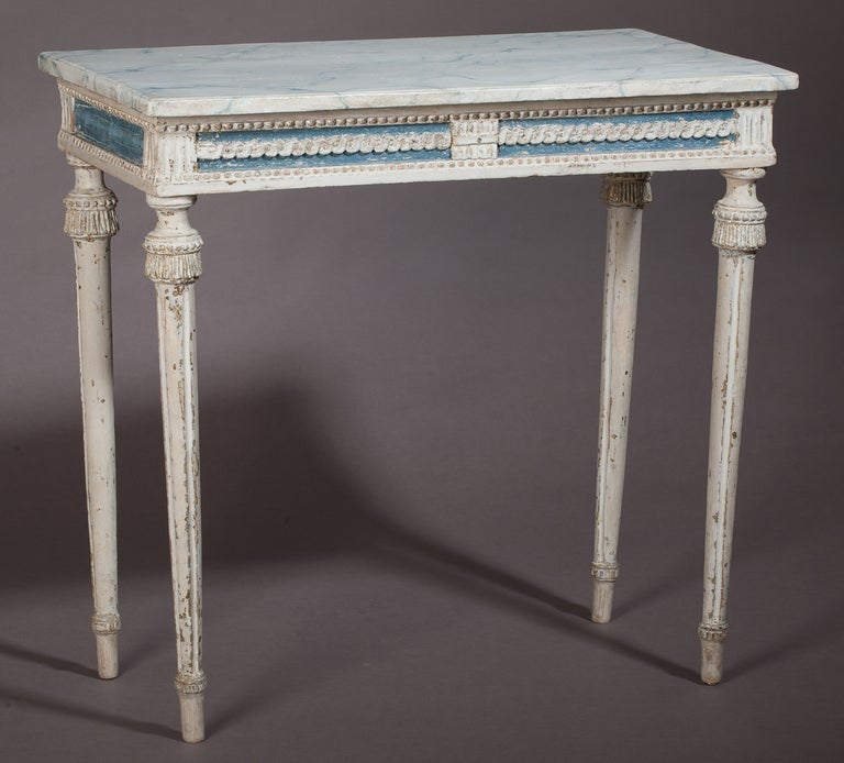 Swedish, Gustavian Period Console Table, in Wonderful Original Paint For Sale