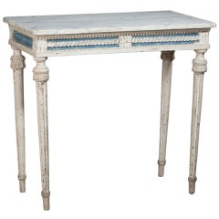 Swedish, Gustavian Period Console Table, in Wonderful Original Paint