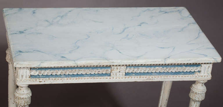 18th Century and Earlier Swedish, Gustavian Period Console Table, in Wonderful Original Paint For Sale