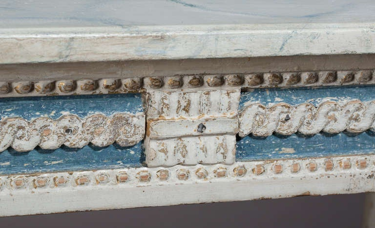 Swedish, Gustavian Period Console Table, in Wonderful Original Paint For Sale 1