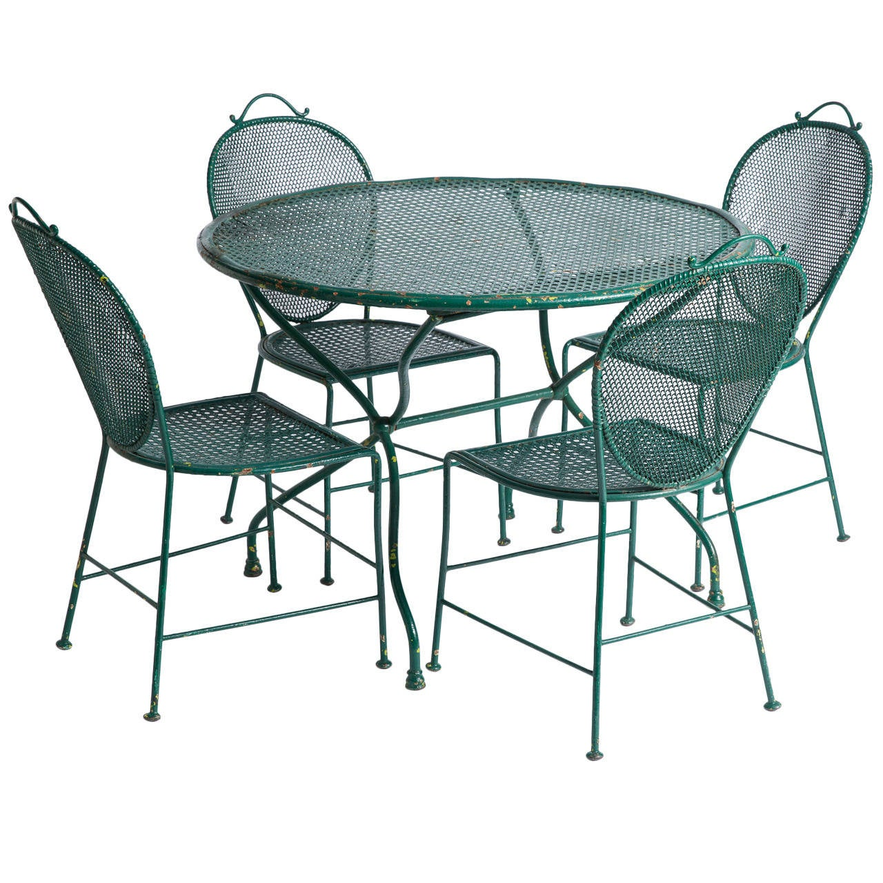 French Wrought Iron Garden Table And Chairs Circa 1900 At