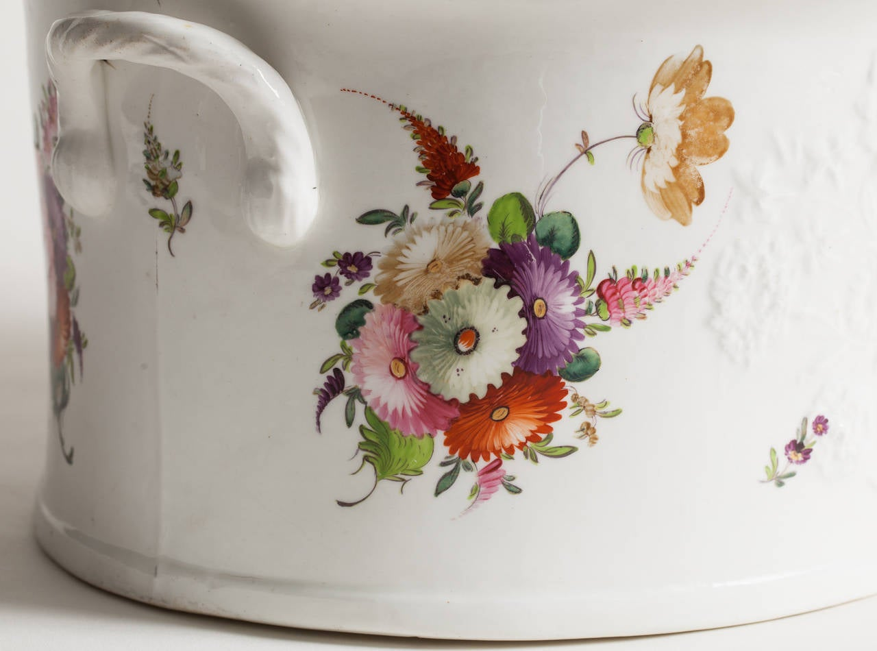 English Flower Painted Footub, Possibly Coalport, circa 1850 3
