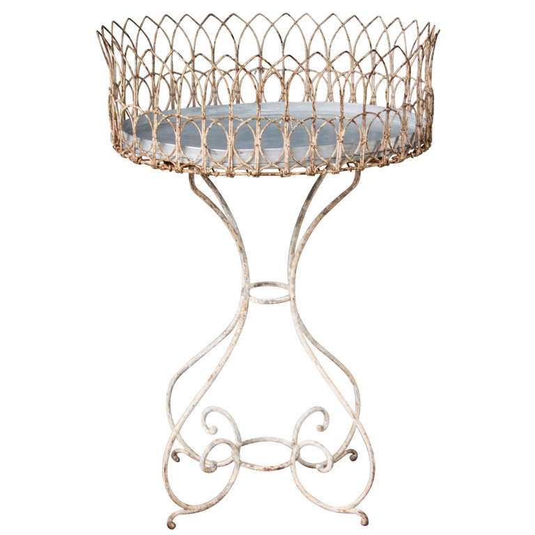 A Wrought Iron Plant Stand/ Jardiniere Victorian Period. at 1stdibs