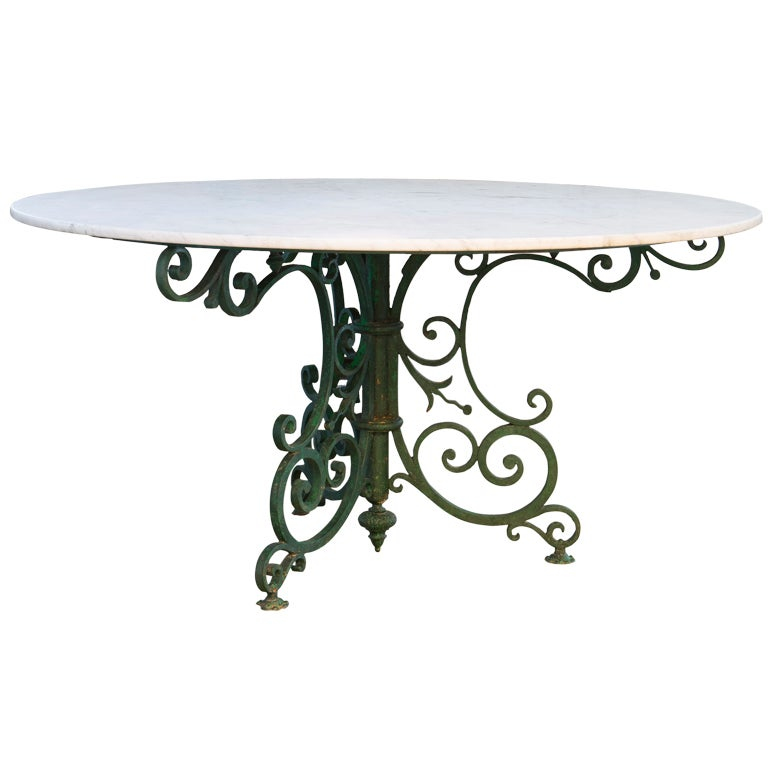 Dining Table Iron Scroll Dining Table Base
