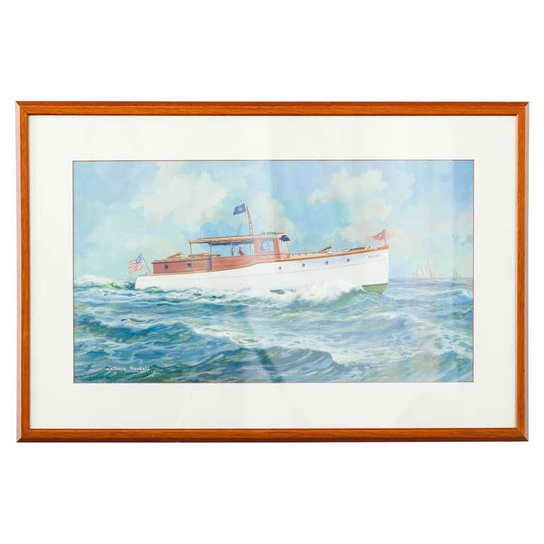 Watercolor of the Tatto by Wallace Randall For Sale