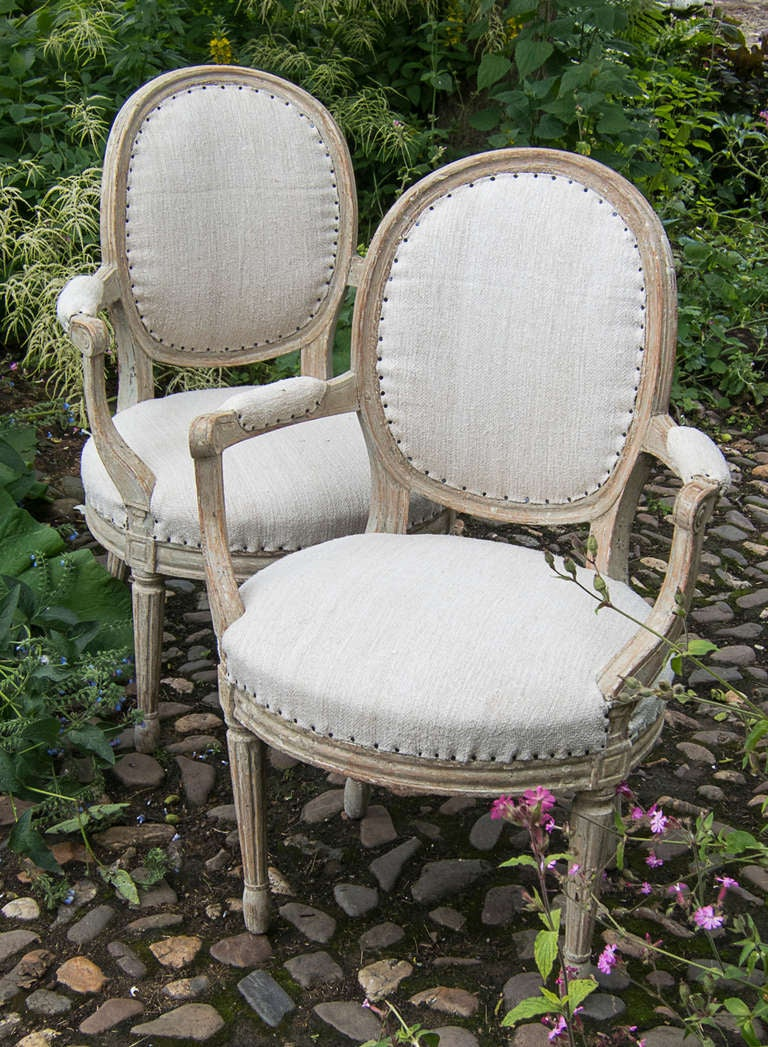 A pair of Swedish Gustavian period armchairs circa 1800. image 5