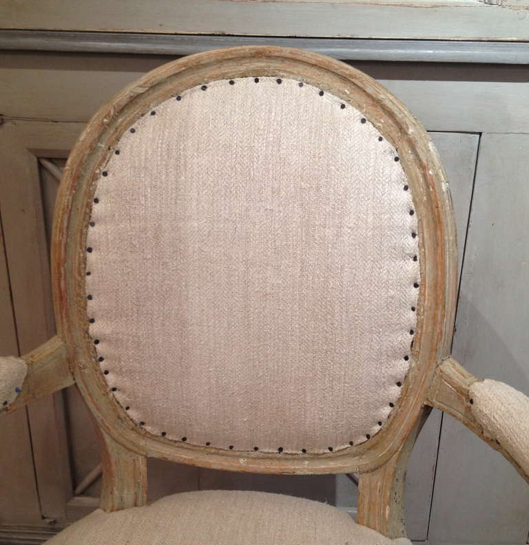 A pair of Swedish Gustavian period armchairs circa 1800. 3