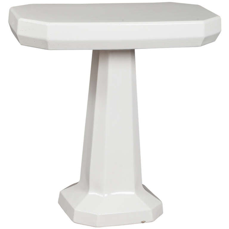 Porcelain Pedestal Table in Two Parts, France, circa 1900