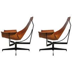 Rare Pair of William Katavolos Lounge Chairs