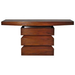 Walnut Console by Peter Alexander