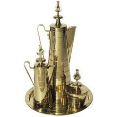 Tommi Parzinger Brass Coffee Set