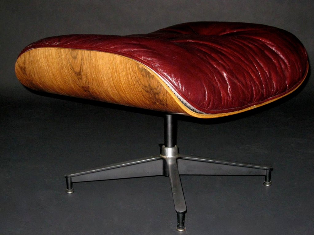 A ray and charles eames iconic lounge chair and ottoman at Iconic chair and ottoman