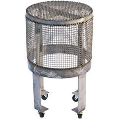 Industrial Steel Cage Table w/ Wheels