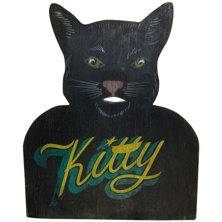 "A Folk Art ""Kitty"" Bank"