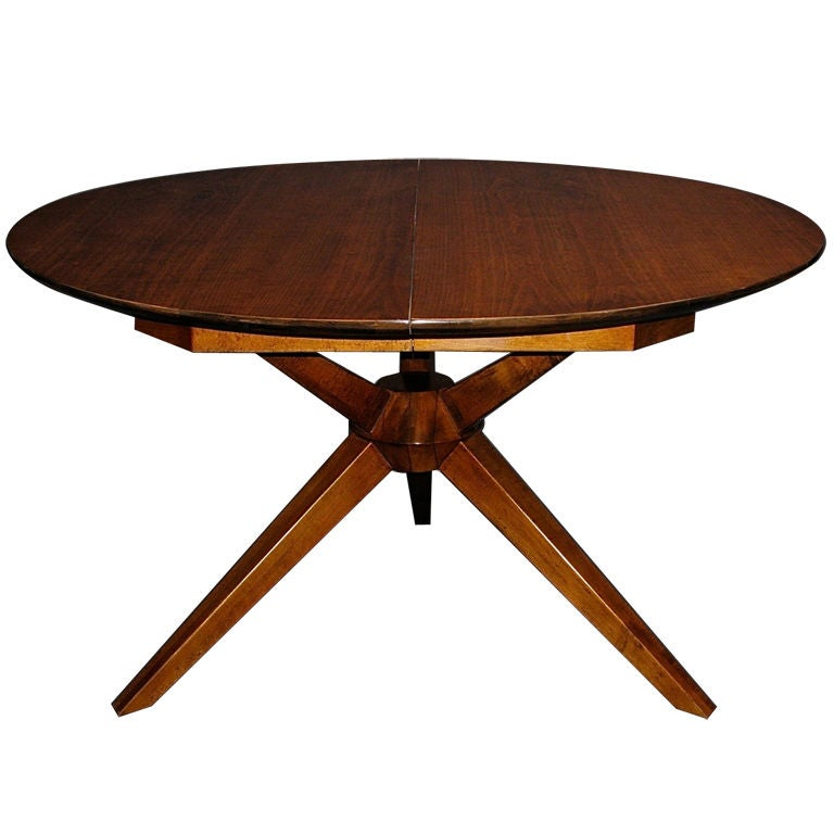 expanding dining table attributed to gio ponti at 1stdibs