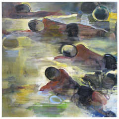 "Frank Troia ""Swimmers"" Oil on Canvas"
