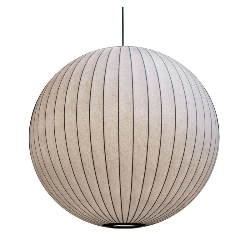 george nelson large bubble lamp h 725 at 1stdibs. Black Bedroom Furniture Sets. Home Design Ideas