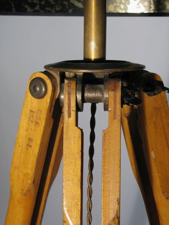 Antique Surveyor Tripod Floor Lamp At 1stdibs