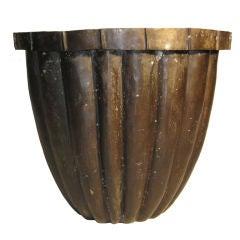Large Bronze Planter