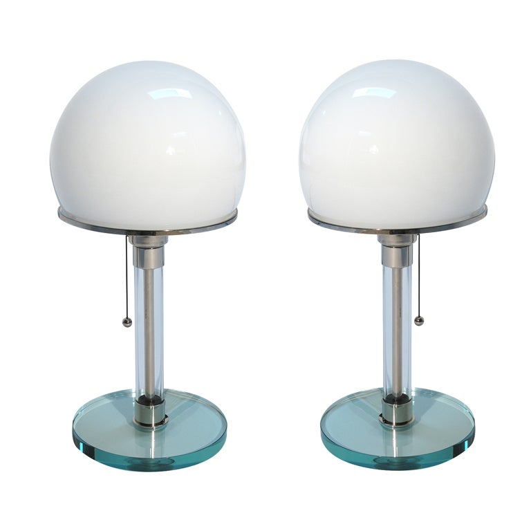 Wilhelm Wagenfeld Bauhaus Lamps Pair At 1stdibs