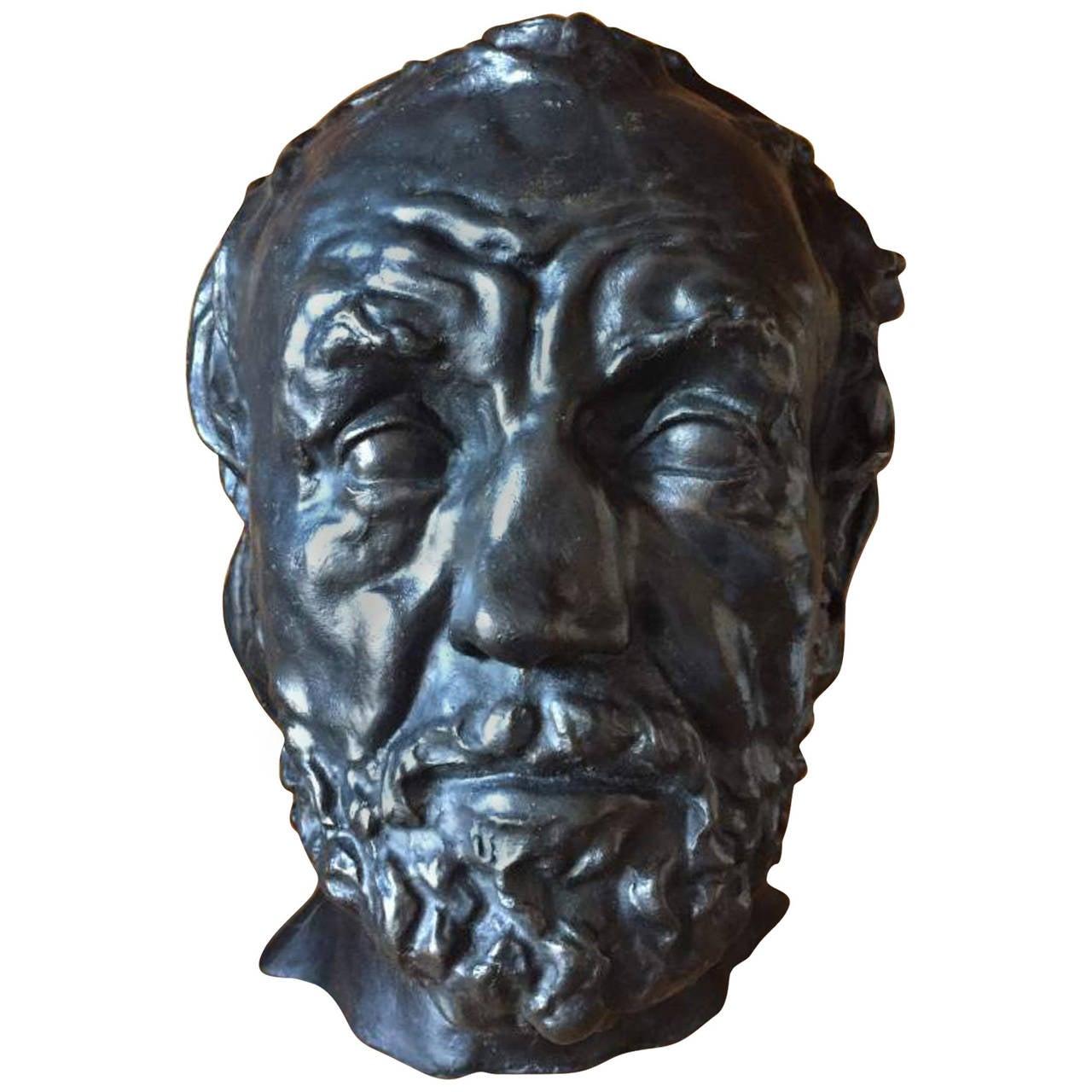 auguste rodin bronze sculpture  u0026quot man with a broken nose u0026quot  at 1stdibs