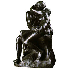 "Large Rodin Bronze Sculpture ""The Kiss"""