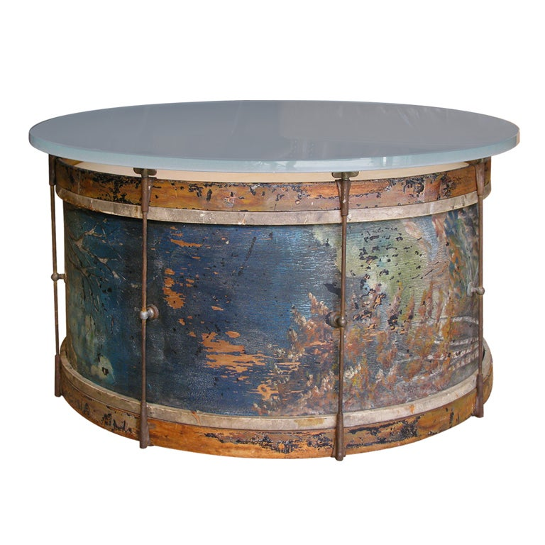 A Marching Drum Coffee Table At 1stdibs