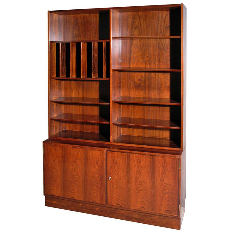 Rosewood Bookcase: Rosewood Bookcase And Cabinet At 1stdibs