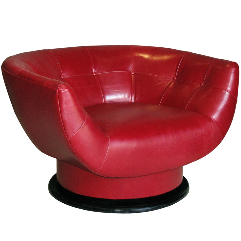Oversized leather swivel lounge chair for Swivel club chair leather