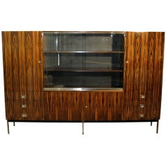 Macassar Ebony Bookcase or Credenza by De Coene