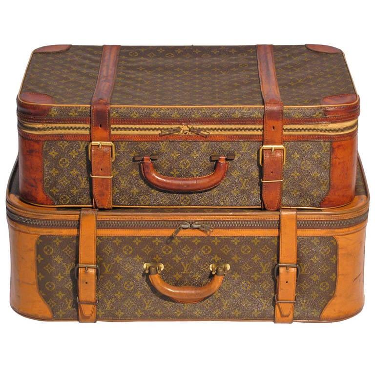 Louis Vuitton Luggage Pair At 1stdibs