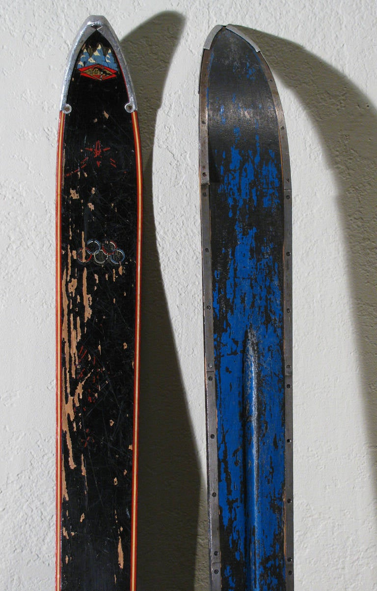 Antique Olympic Skis 8