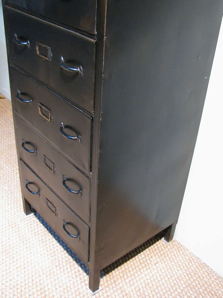 Industrial Metal Six Drawer Chest At 1stdibs