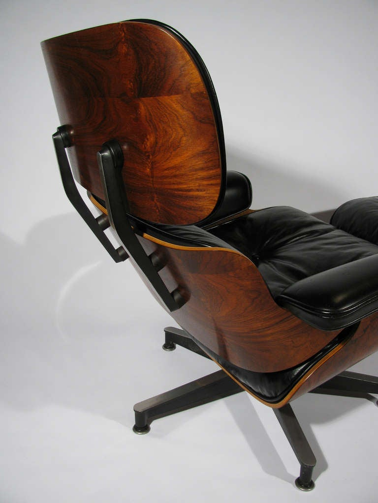 Vintage herman miller chair with ottoman