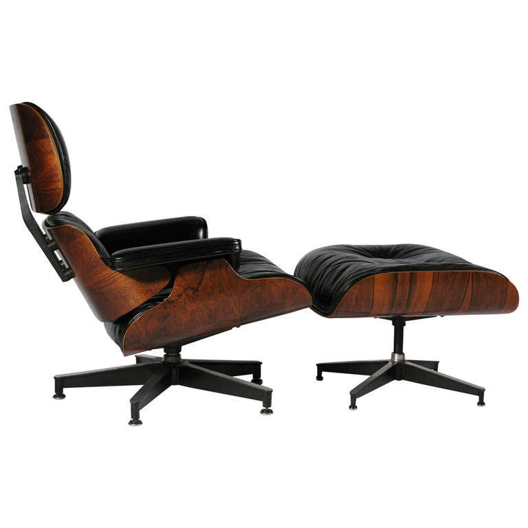 Eames for herman miller rosewood lounge chair and ottoman - Herman miller eames lounge chair and ottoman ...