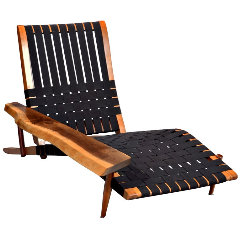 Long chair by george nakashima at 1stdibs for Long couch chair