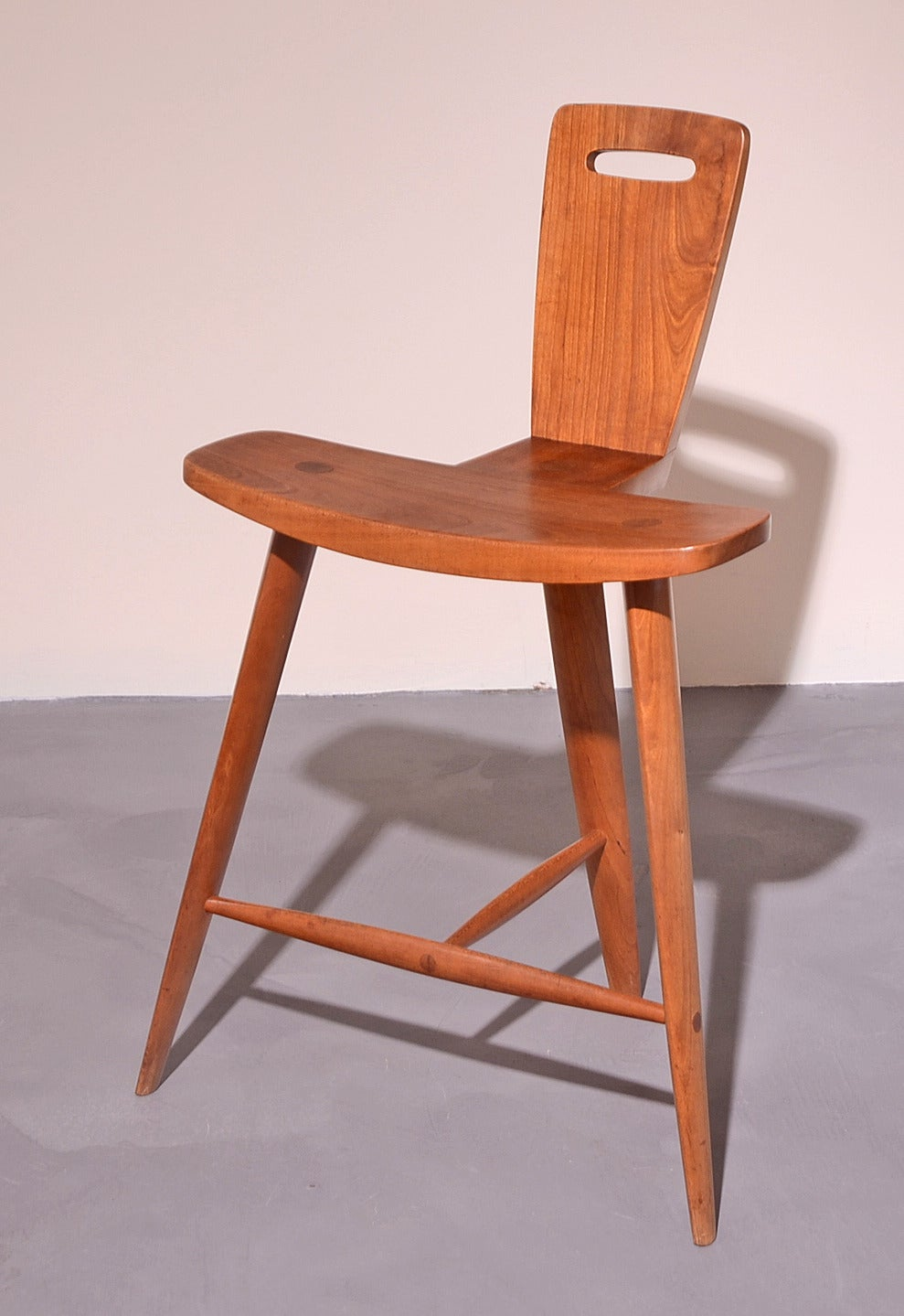 extremely rare three legged stool by tage frid for sale at 1stdibs