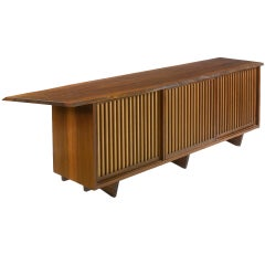 Triple Sliding Door Cabinet by George Nakashima